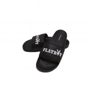 Good Worth & Co X Playboy Slides -ブラック