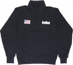 Belief NYC WORLD TRADE チャンピオン1/4 ジップ フリース -ブラック