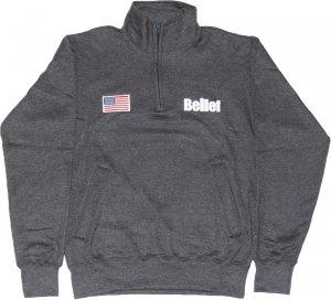 Belief NYC WORLD TRADE チャンピオン1/4 ジップ フリース -チャコール