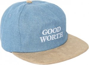 Good Worth&Co Good Worth Logo 5Panel Cap -デニム・タン