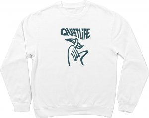 The Quiet Life Shhh Wavey Crewneck -ホワイト