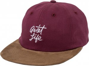 The Quiet Life Cursive Polo Hat -バーガンディー