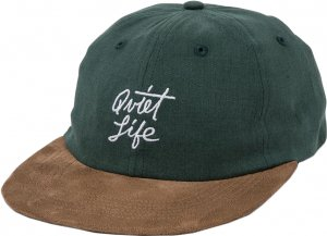 The Quiet Life Cursive Polo Hat -ハンターグリーン