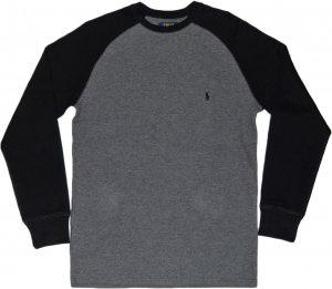 Polo Ralph Lauren  Thermal Raglan Sleeve -グレー・ブラック