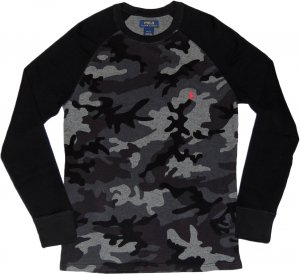 Polo Ralph Lauren  Thermal Raglan Sleeve -迷彩・グレー