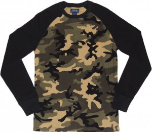 Polo Ralph Lauren  Thermal Raglan Sleeve -迷彩・グリーン