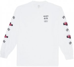 <img class='new_mark_img1' src='//img.shop-pro.jp/img/new/icons20.gif' style='border:none;display:inline;margin:0px;padding:0px;width:auto;' />Good Worth & Co Grand Prix Long Sleeve Tee -ホワイト