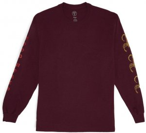 Good Worth & Co Scorpion Long Sleeve Tee -ワイン