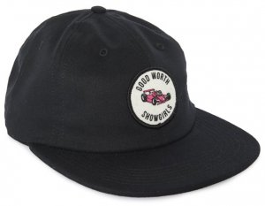 Good Worth&Co Grand Prix 6 Panel Strapback  -ブラック