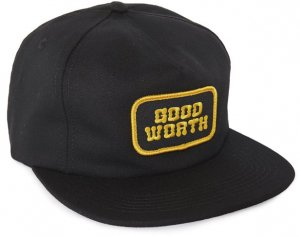Good Worth&Co Logo 5 Panel Snapback  -ブラック
