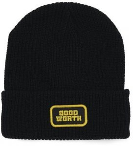 Good Worth & Co Logo Beanie -ブラック