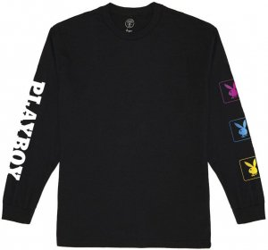 Good Worth & Co x Playboy Bunny Long sleeve Tee -ブラック