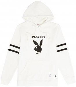<img class='new_mark_img1' src='https://img.shop-pro.jp/img/new/icons20.gif' style='border:none;display:inline;margin:0px;padding:0px;width:auto;' />Good Worth & Co X Playboy  Football Hoodie -ホワイト