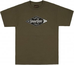 Benny Gold Diamond Label Tee -アーミーグリーン