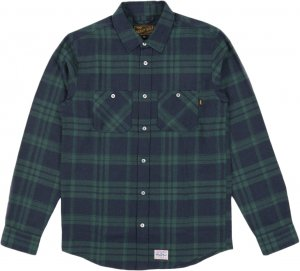 Benny Gold Julien Flannel Shirt -グリーン
