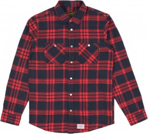 Benny Gold Julien Flannel Shirt -レッド