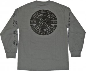 <img class='new_mark_img1' src='https://img.shop-pro.jp/img/new/icons20.gif' style='border:none;display:inline;margin:0px;padding:0px;width:auto;' />LICK NYC Tools Of The Trade Long Sleeve Tee -チャコールヘザー
