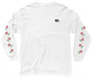 The Quiet Life Rose Long Sleeve Tee -ホワイト