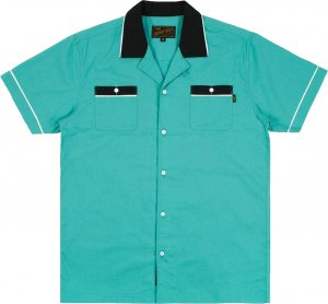 Benny Gold Strike Bowling Shirt -シーフォーム