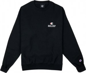 Belief NYC Classic Champion Crewneck -ブラック