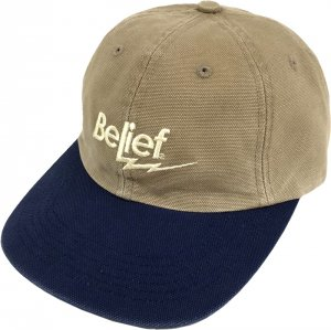 Belief NYC Bolt 6-Panel Cap -ダークカーキ