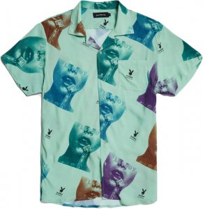 Good Worth & Co x Playboy Stamp Button Up -マルチ