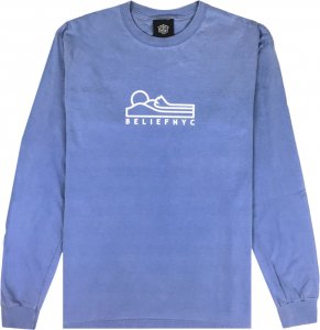 Belief NYC Terrain Long Sleeve Tee -フローブルー