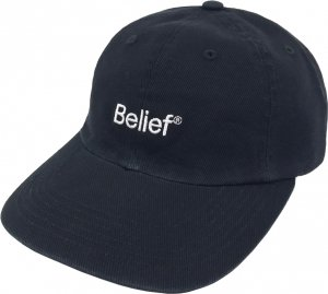 Belief NYC Logo 6-Panel Cap -ブラック