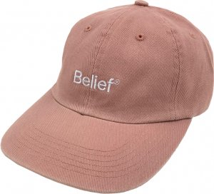 Belief NYC Logo 6-Panel Cap -クレイ