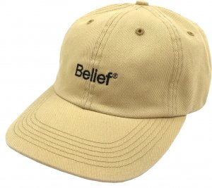 Belief NYC Logo 6-Panel Cap -バター
