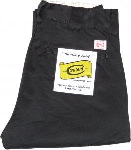 COWDEN Slim Work Pants -ブラック