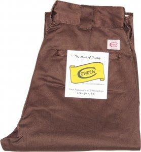 COWDEN Slim Work Pants -ブラウン