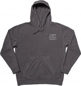 The Quiet Life Metal Pigment Dyed Pullover Hood -ブラック