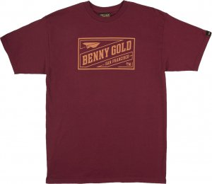 <img class='new_mark_img1' src='https://img.shop-pro.jp/img/new/icons20.gif' style='border:none;display:inline;margin:0px;padding:0px;width:auto;' />Benny Gold Stamp Tee -クラレット