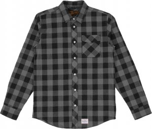 Benny Gold Squaw Plaid Flannel Shirt -グレー
