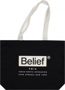 Belief NYC Box Logo Tote  -ブラック