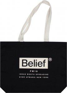 Belief NYC Box Logo Tote  -ブラック