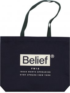 Belief NYC Box Logo Tote  -ネイビー