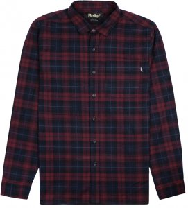 Belief NYC Camper Flannel -ワイン
