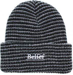 Belief NYC Wave Beanie -ブラック