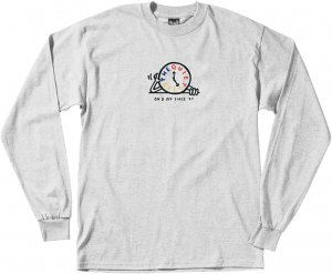 The Quiet Life Tick Tock Long Sleeve Tee -アッシュ