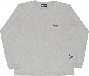 CROOZE Script Long Sleeve Tee -グレー