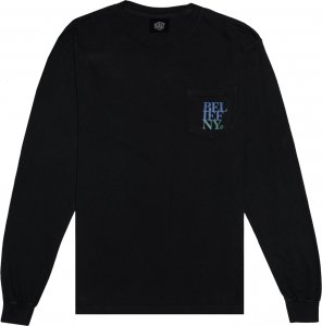 <img class='new_mark_img1' src='https://img.shop-pro.jp/img/new/icons20.gif' style='border:none;display:inline;margin:0px;padding:0px;width:auto;' />Belief NYC Stacked Long Sleeve Pocket Tee -ブラック