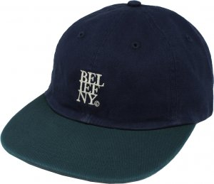 Belief NYC Stacked 6-Panel Cap -ネイビー