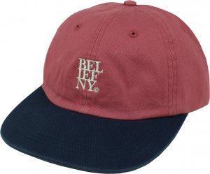 Belief NYC Stacked 6-Panel Cap -レッド