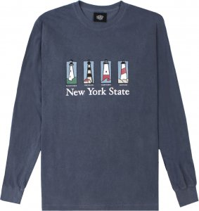 Belief NYC Souvenir Long Sleeve Tee -デニム