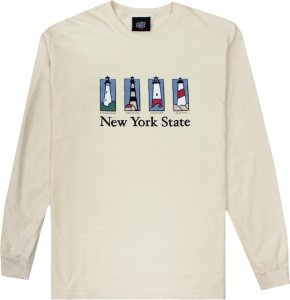 Belief NYC Souvenir Long Sleeve Tee -アイボリー
