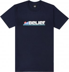 Belief NYC Abstract Tee -ネイビー