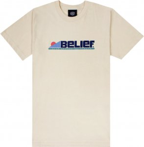 Belief NYC Abstract Tee -クリーム