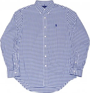 <img class='new_mark_img1' src='https://img.shop-pro.jp/img/new/icons20.gif' style='border:none;display:inline;margin:0px;padding:0px;width:auto;' />Polo Ralph Lauren Gingham Check Shirt -ネイビー